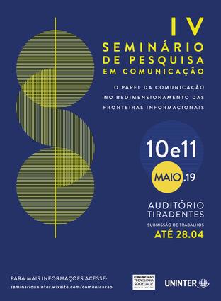 Seminário de Comunicação da Uninter prorroga prazo de submissões até 01/05