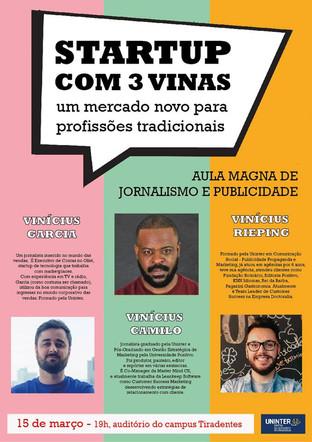 Curso de Jornalismo do Uninter promove aula Magna