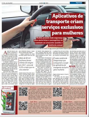 Aplicativos de transporte criam serviços exclusivos para  mulheres