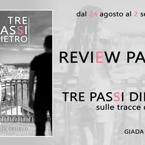 """Review Tour - """"Tre passi dietro - Sulle tracce di Sarah"""" di Giada Obelisco"""