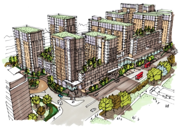 Tesco supermarket flat development