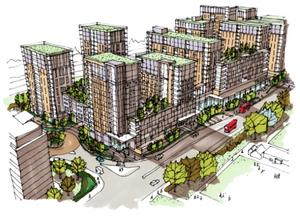 Tesco supermarket flat development