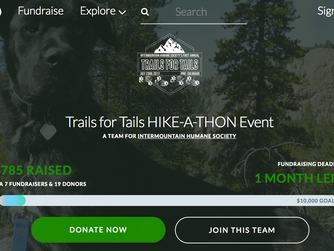 New fun way to FUNdraise-HIKE!