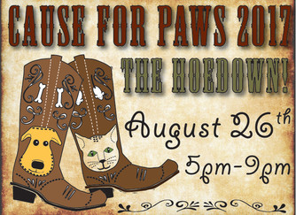 Head out to the hoedown! 8/26 Cause4Paws