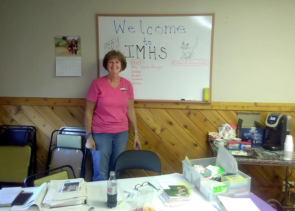 Nancy Park welcomes visitors to IMHS