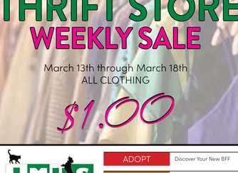 WEEKLY SALE! All Clothing $1