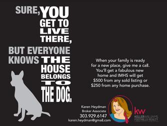Business Partner of the month--Karen Heydman of Keller Williams Foothills Realty