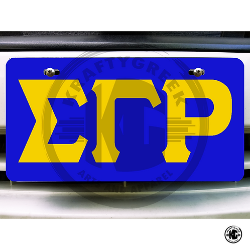 CAR TAG (LETTERS)