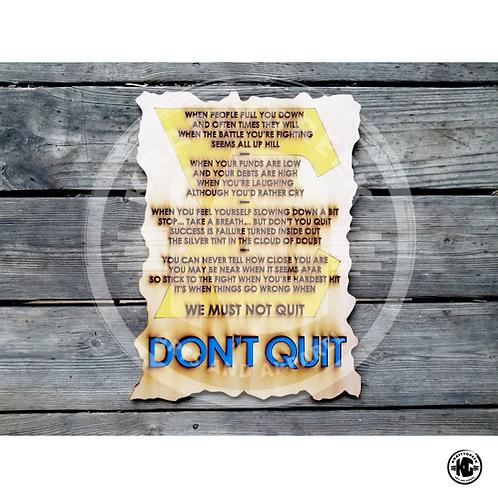 DON'T QUIT POEM (SGRHO)