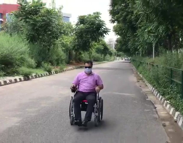 Motorised wheelchair demo video
