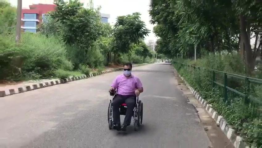 Motorised wheelchair demo video
