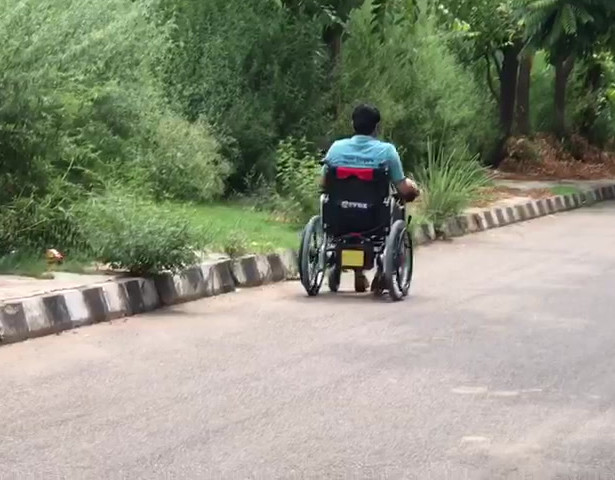 Motorised wheelchair demo 2