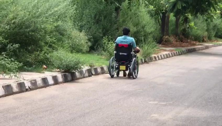 Motorised wheelchair demo 2