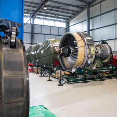 Jet Engine in storage