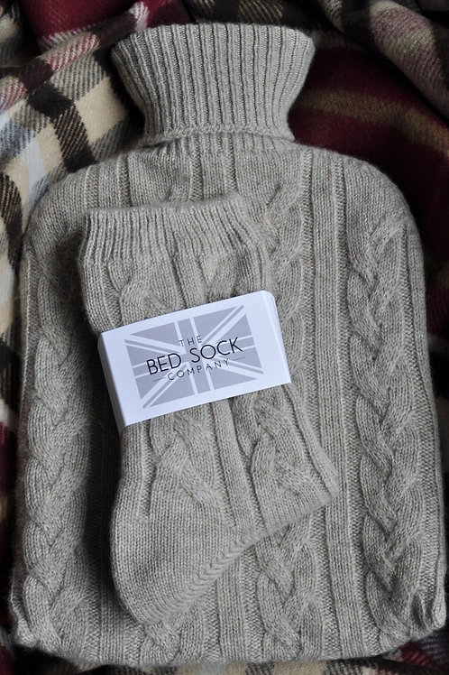 Fawn Cashmere Hotwater Bottle & Bedsock Set