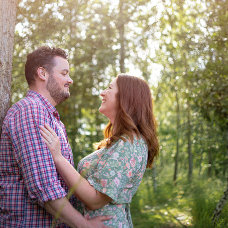 Sophie & Iain Engagement Shoot at Hyde Hall Gardens