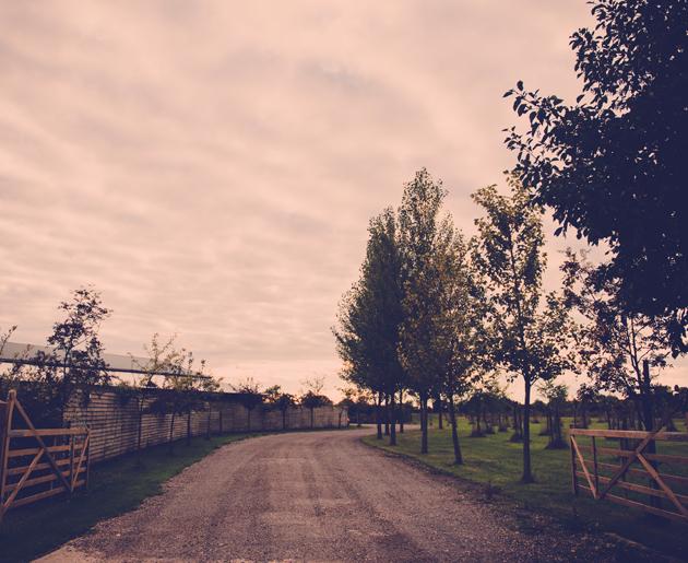 Driveway Maidens Barn