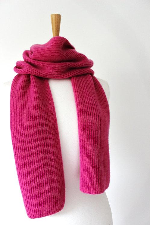 Pink Cashmere Rib Scarf