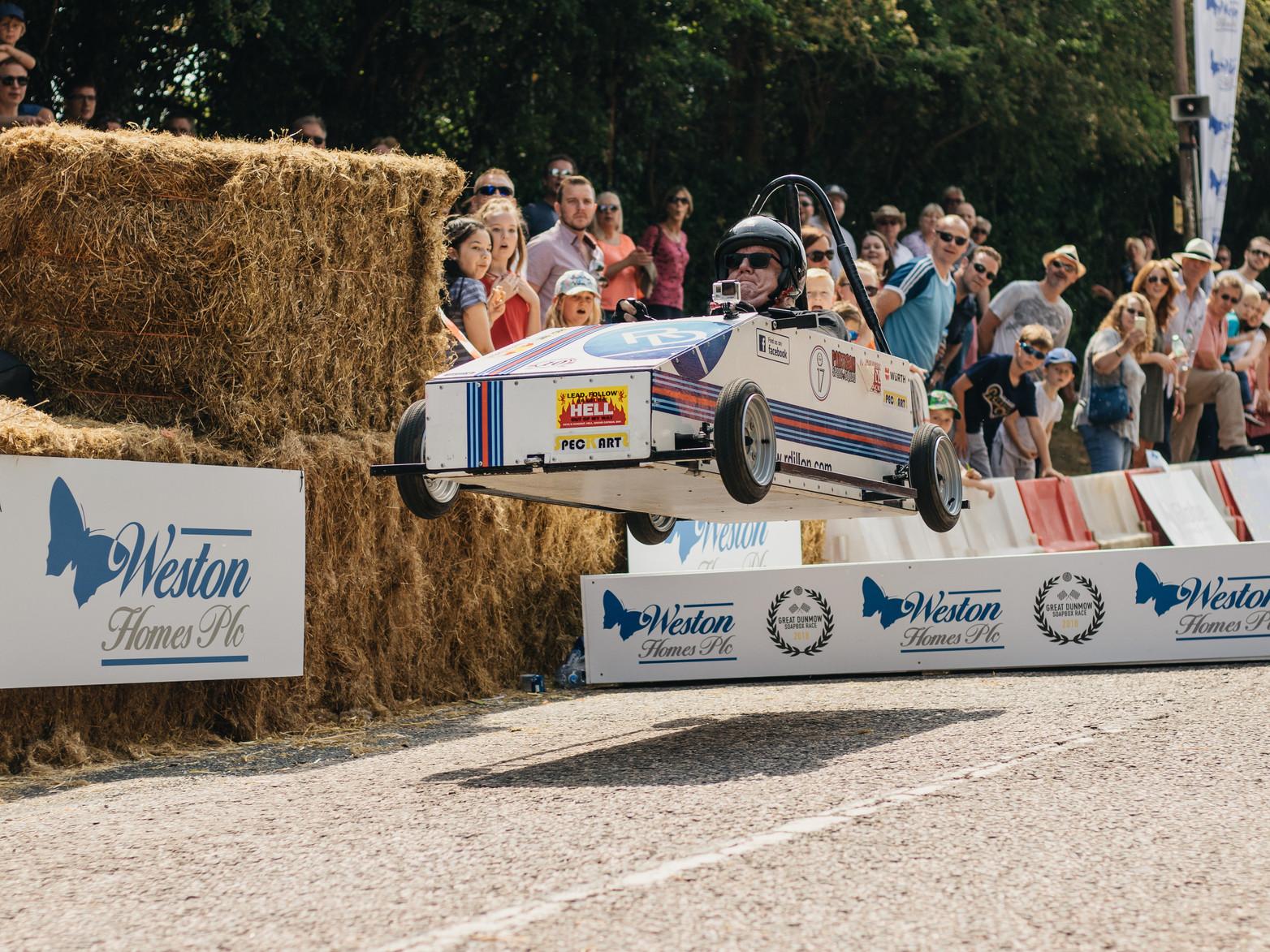 Spec Kart soapbox jump
