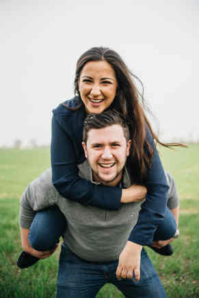 couple at engagement photoshoot in Dunmow