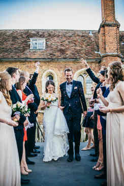 bride wearing beautiful wedding dress