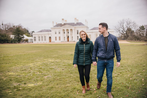 Rachel and Mike,Engagement Photos at Hylands House