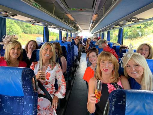 LADIES DAY AT NEWMARKET WITH A GROUP FROM HARLOW