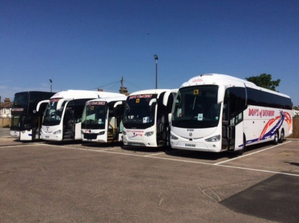 THE FLEET ON A DAY TRIP OUT