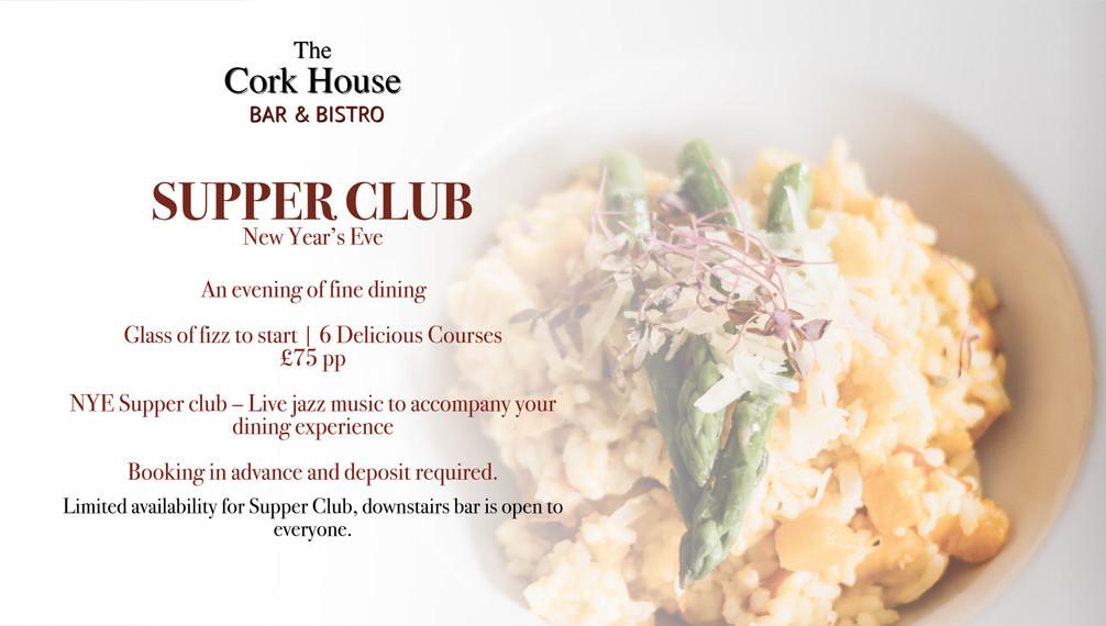 NYE Supper Club New years eve NYE