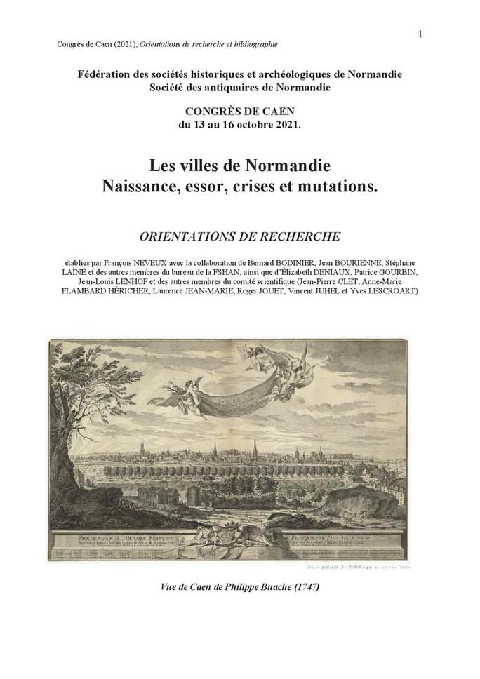 Congrès de la Fédération des Sociétés historiques et archéologiques de Normandie