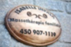 Massothérapie familiale Isabelle Impala enseigne