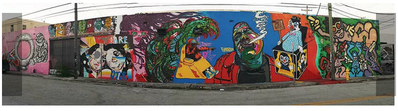 Full wall at Art Basel with Biggie