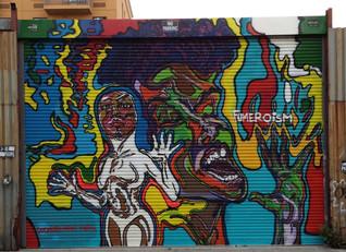 Brightening Up Dodworth Street Mural Brooklyn