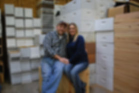 picture of Slade and Kristie in the Shop