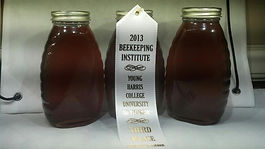 picture of our 3rd place honey in our first honey show