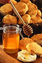 picture of honey on bread