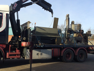 More machinery arrives at the new location