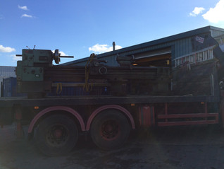 The TOS long Lathe arrives at Barrow upon Soar