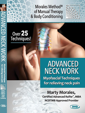The cover of the Morales Method Advanced Neck Work Manual Therapy Techniques DVD