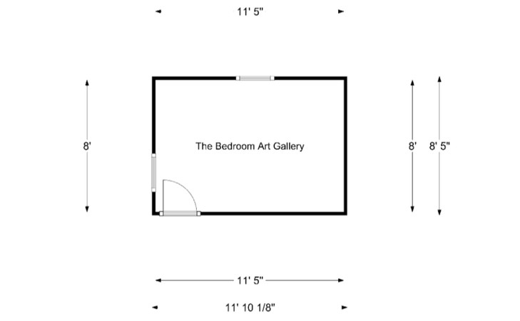 The Bedroom Art Gallery: Floor Plan