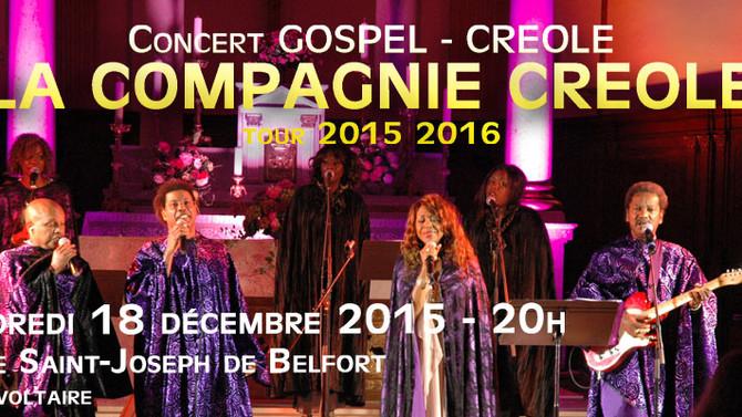LES CONCERTS D'AWA - Vendredi 18 décembre - Gospel avec la Compagnie Créole