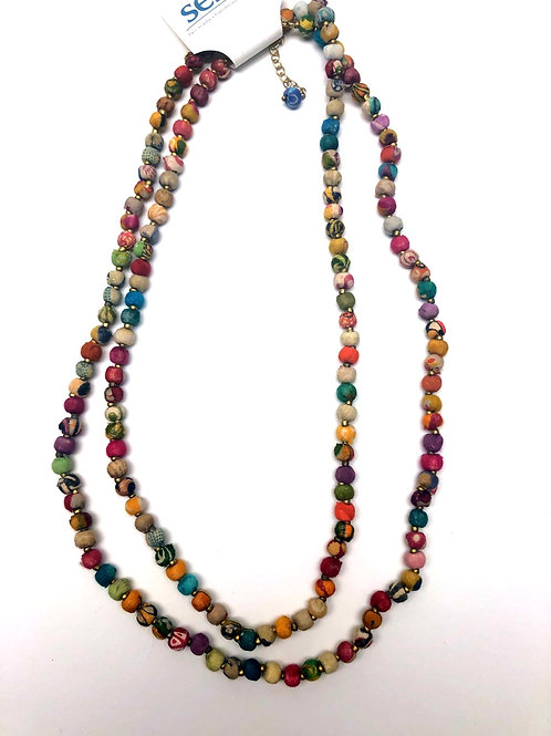 Sari Bead Necklace