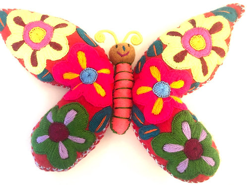 Stuffed Butterfly with Pocket