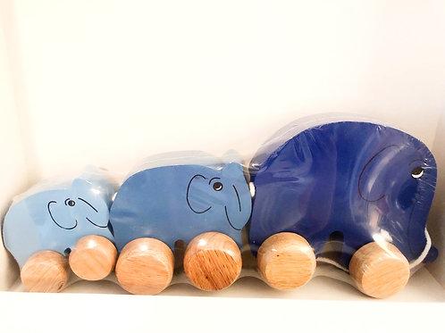 Elephant Wood Pull Toy