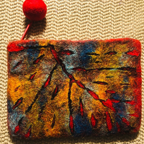 Abstract Leaf Purse