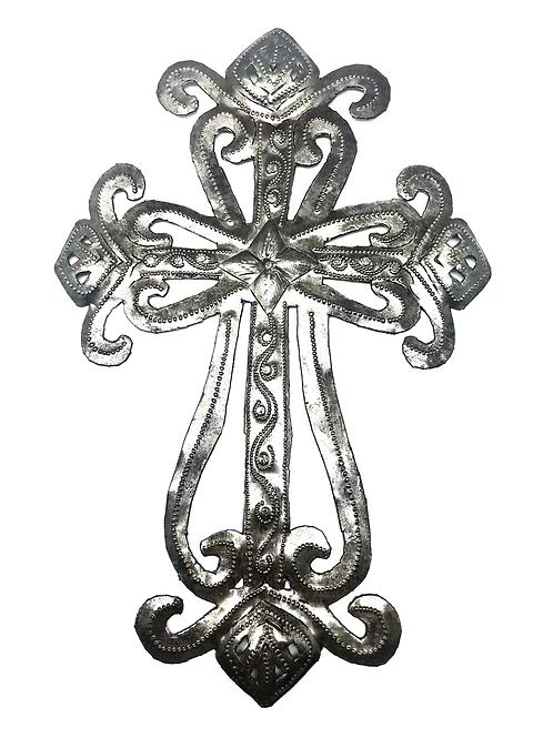 Open Work Metal Cross