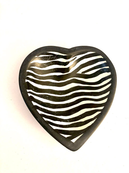 Zebra Soapstone Dish