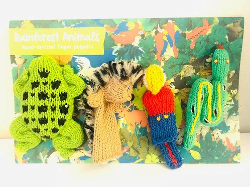 Rainforest Finger Puppets