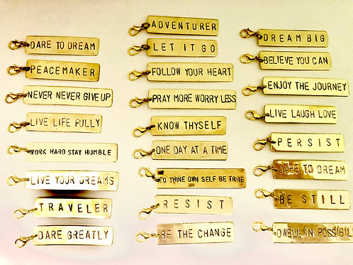Brass Word Charm