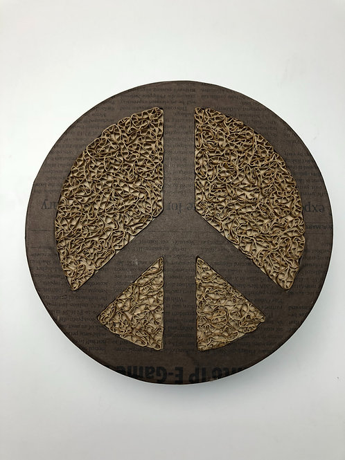 Peace Round Box with Cover